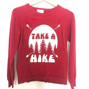 "Sweaters - comfy and warm ""take a hike"" sweater"
